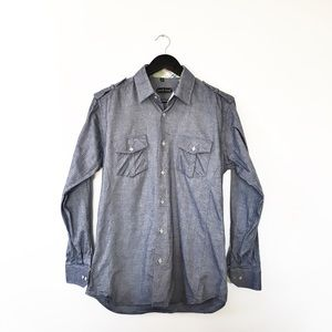 Jared Yang Grey Casual Button Down Shirt